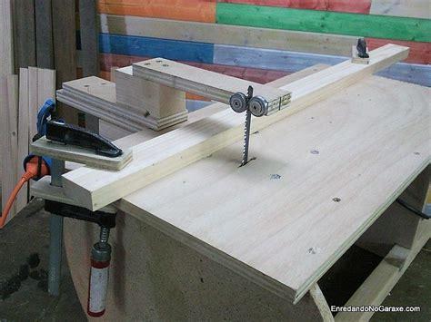 guia  cortar recto  la caladora de mesa madera