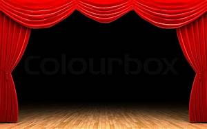 red velvet curtain opening scene stock photo colourbox With open red curtain background