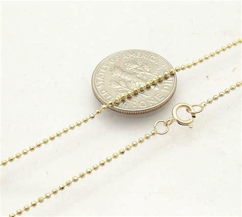 mm diamond cut ball bead ankle bracelet anklet real