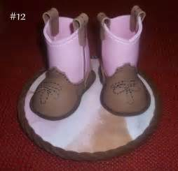 fondant baby cowboy boots tutorial cakesdecor