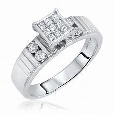 12 Carat Tw Diamond Women's Engagement Ring 14k White