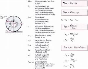 Umfangskraft Berechnen Formel : bremskr fte bremsmomente umfangskraft ~ Themetempest.com Abrechnung