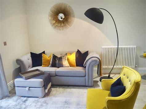 grey mustard  navy living room baci living room