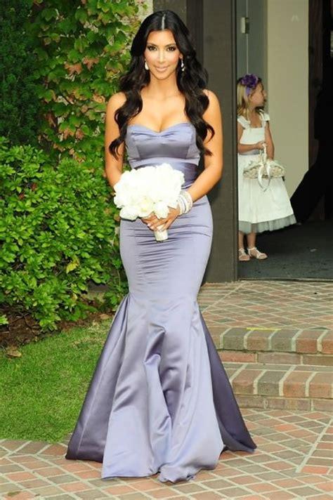 Kim Kardashian Purple Mermaid Prom Dress At Khloe