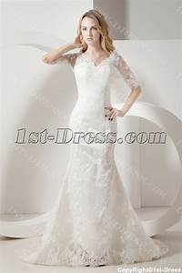 sheath lace mormon wedding dresses with sleeves1st dresscom With mormon wedding dress