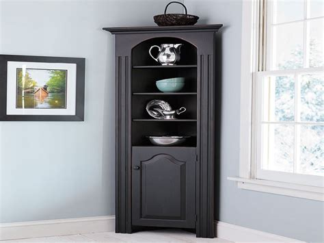 Corner cabinet for dining room, small corner hutch cabinet