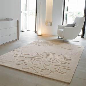 tapis beige en laine esprit home marie claire maison With tapis en laine ikea