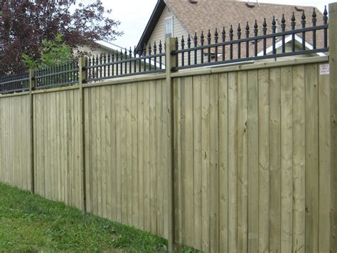 iron and wood fence wood fence photo gallery strictly fences