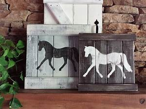 Rustic horse decor equestrian wall by