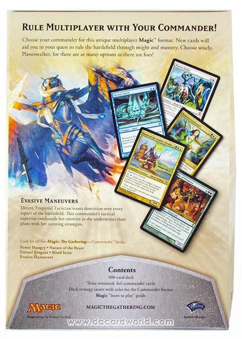 improving evasive manuvers bant multiplayer commander decklists commander edh the