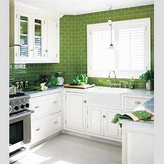 Green Subway Tile Kitchen Design Ideas