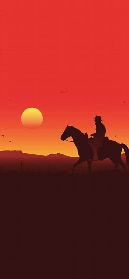 Dead Redemption Silhouette Iphone Phone Sunset Wallpapers