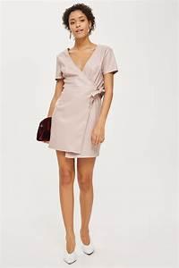 shopping topshop mini robe portefeuille en simili cuir With robe de cocktail combiné avec bracelet cuir 22