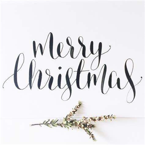 merry christmas calligraphy ideas  pinterest