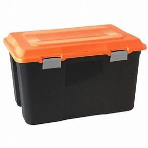 Malle De Rangement Plastique : coffre de rangement 100l malle avec poignee et couvercle ~ Dailycaller-alerts.com Idées de Décoration