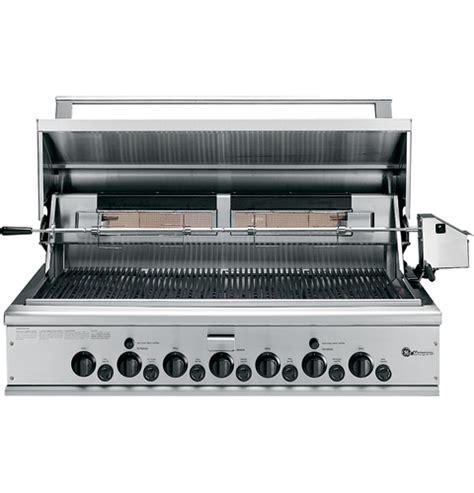 ge monogram  outdoor cooking center   grill burners  rotisseries smoker  rack