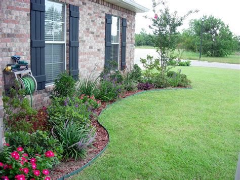 flower bed mulch ideas flower bed designs for front of house use shrubs small trees to form the skeletal struct ure