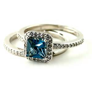 blue topaz engagement ring blue topaz cushion cut engagement ring