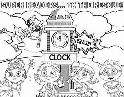 Super Coloring Rescue Readers Why Pages Superwhy