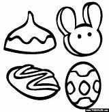 Easter Treats Coloring Pages Cross Buns Colour Template Sweet Clipart Thecolor sketch template