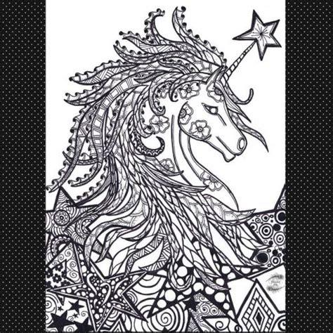 peacock pie unicorn ready  colouring print colour  tag