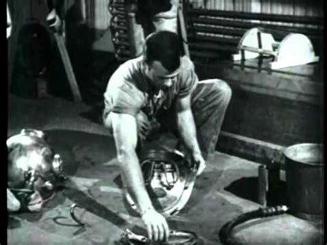dangers  deep sea diving vintage film  diving dress