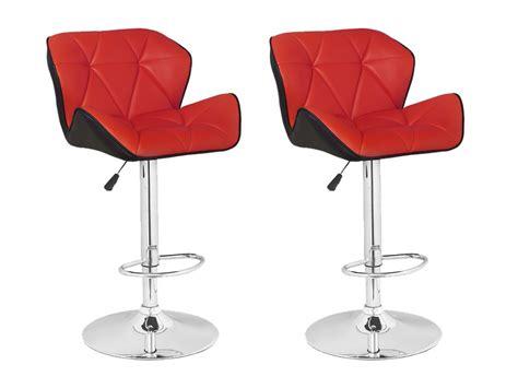 fauteuil bureau fly lot de 2 tabourets de bar christi ii simili 3 coloris
