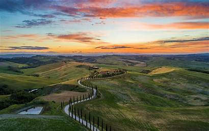 Italy Sunset San Quirico Orcia Daily