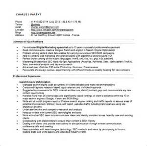 Free Resumes Search Engines by Seo Executive Resume Template 12 Free Word Excel Pdf
