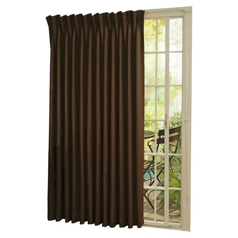 eclipse thermal blackout patio door 84 in l curtain panel