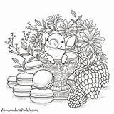 Teacup Printable Coloring Getdrawings Pages sketch template