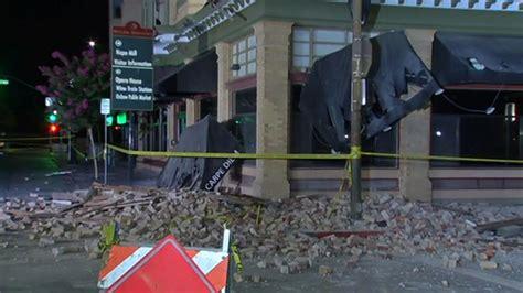earthquake destroys  buildings  napa