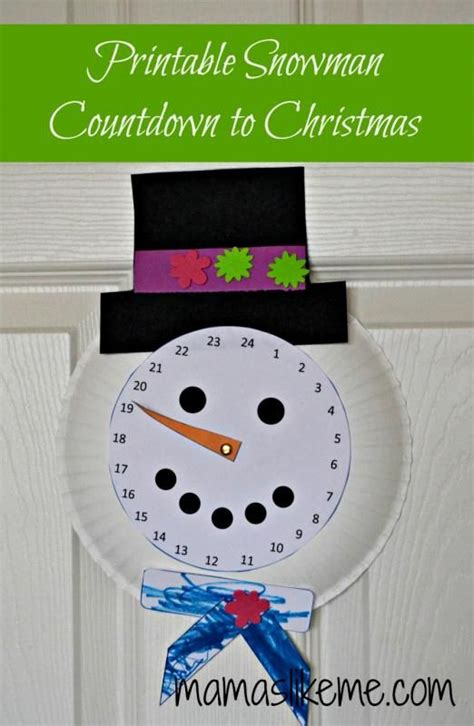 mamas like me free printable snowman countdown to