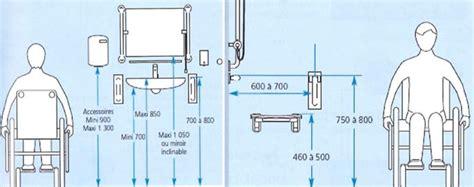 salle de bain handicap norme hauteur lavabo bon march chambre propri t 17 handicape 7