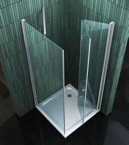 Falttür Mit Glas : space one 90 x 90 x 195 cm glas faltt r duschkabine dusche duschabtrennung ebay ~ Sanjose-hotels-ca.com Haus und Dekorationen