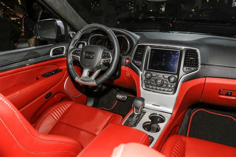 2017 jeep grand cherokee dashboard 2018 jeep grand cherokee trackhawk first look hell