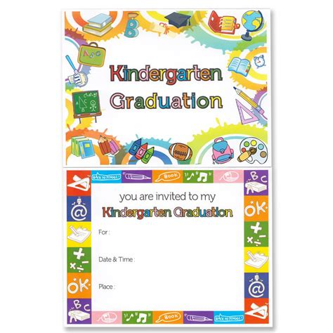 free printable preschool graduation invitations kindergarten graduation announcement gradshop 570