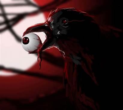 Dark Creepy Mobile Raven Advertisements Scary Blood