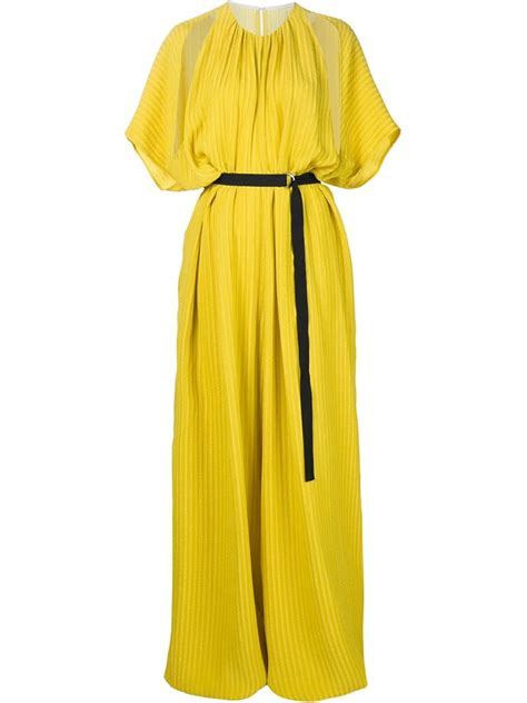 womens yellow jumpsuit tome oversized jumpsuit in yellow lyst