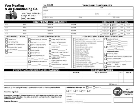 hvac inspection form  miracle  hvac inspection form