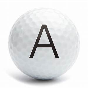 golf ball stamp a25 motif letter a 1a25s04 With letter ball