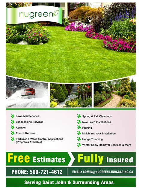 landscaping flyer playful flyer design for brandon parent by sandaruwan design 2960355
