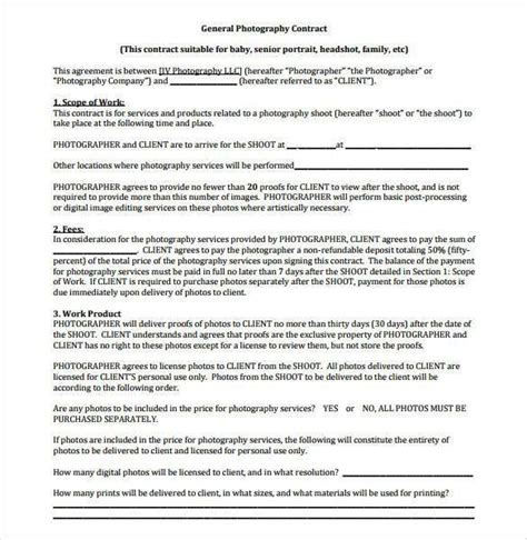family photography contract  photography