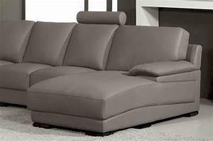 Canape Angle 6 7 Places : canap d 39 angle en cuir italien 6 7 places mister gris clair mobilier priv ~ Maxctalentgroup.com Avis de Voitures