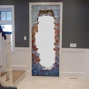 Wholsale Diy 3d Vintage Brick Door Wall Mural Wallpaper ...