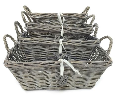 shabby chic storage baskets white grey strong shabby chic kitchen baby nursery xmas her storage basket ebay