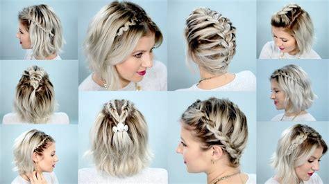 easy braids  short hair tutorial milabu youtube