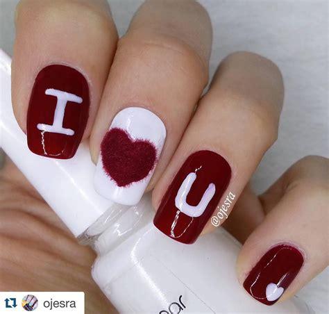 flirty  romantic valentines day nail art designs