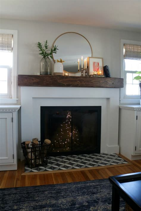 fireplace makeover  styled  decor  target