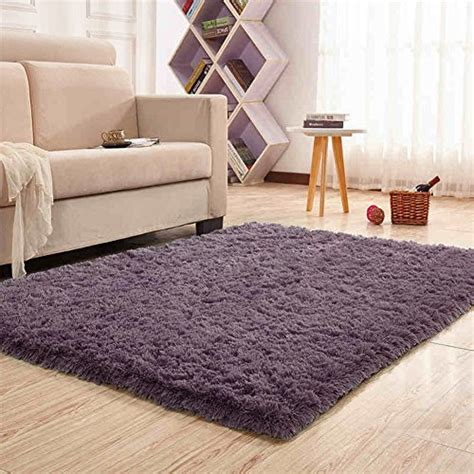 soft bedroom rugs noahas soft 4 5cm thick modern shag area rugs fluffy